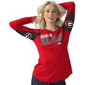 Hands High Women's Georgia Bulldogs Red Handoff Long Sleeve Shirt