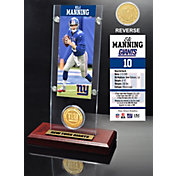 The Highland Mint New York Giants Eli Manning Ticket and Bronze Coin Desktop Display