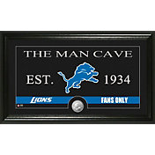 The Highland Mint Detroit Lions 'The Man Cave' Framed Bronze Coin Photo Mint