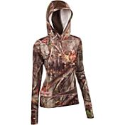 Huntworth Women's Active Camo Henley Hoodie
