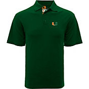 Levelwear Men's Miami Hurricanes Green Omaha Polo