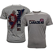 Levelwear Men's Montreal Canadiens Carey Price #31 Grey Spectrum T-Shirt
