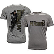 Levelwear Men's Pittsburgh Penguins Evgeni Malkin #71 Grey Spectrum T-Shirt