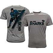 Levelwear Men's San Jose Sharks Joe Pavelski #8 Grey Spectrum T-Shirt