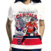 Levelwear Women's Washington Capitals Alexander Ovechkin #8 Center Ice White T-Shirt