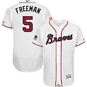 Majestic Men's Authentic Atlanta Braves Freddie Freeman #5 Flex Base Stars & Stripes On-Field Jersey