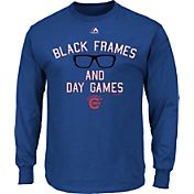 "Majestic Men's Chicago Cubs ""Black Frames and Day Games"" Royal Long Sleeve Shirt"