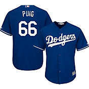 Majestic Men's Replica Los Angeles Dodgers Yasiel Puig #66 Cool Base Alternate Royal Jersey