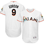 Majestic Men's Authentic Miami Marlins Dee Gordon #9 Home White Flex Base On-Field Jersey