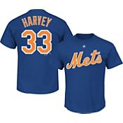 Majestic Men's New York Mets Matt Harvey #33 Royal T-Shirt