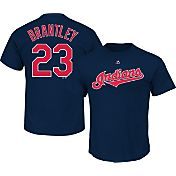 Majestic Men's Cleveland Indians Michael Brantley #23 Navy T-Shirt