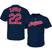 Majestic Men's Cleveland Indians Jason Kipnis #22 Navy T-Shirt