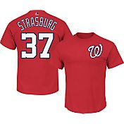 Majestic Men's Washington Nationals Stephen Strasburg #37 Red T-Shirt