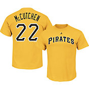 Majestic Men's Pittsburgh Pirates Andrew McCutchen #22 Gold T-Shirt