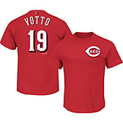Majestic Men's Cincinnati Reds Joey Votto #19 Red T-Shirt