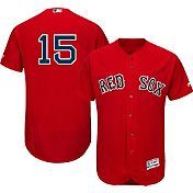Majestic Men's Authentic Boston Red Sox Dustin Pedroia #15 Alternate Red Flex Base On-Field Jersey