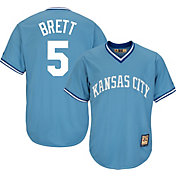 Majestic Men's Replica Kansas City Royals George Brett Cool Base Light Blue Cooperstown Jersey