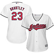 Majestic Women's Replica Cleveland Indians Michael Brantley #23 Cool Base Home White Jersey