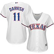 Majestic Women's Replica Texas Rangers Yu Darvish #11 Cool Base Home White Jersey