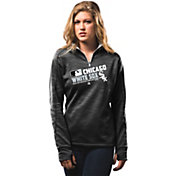 Majestic Women's Chicago White Sox On-Field Black Authentic Collection Quarter-Zip Pullover