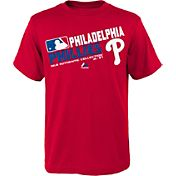 Majestic Youth Philadelphia Phillies Authentic Collection Red T-Shirt