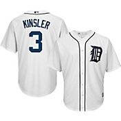 Majestic Youth Replica Detroit Tigers Ian Kinsler #3 Cool Base Home White Jersey