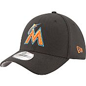 New Era Men's Miami Marlins 39Thirty Diamond Era Black Flex Hat