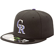 New Era Men's Colorado Rockies 59Fifty Game Black Authentic Hat