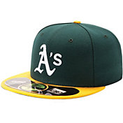 New Era Men's Oakland Athletics 59Fifty Home Green Authentic Hat