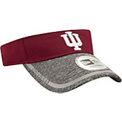 New Era Men's Indiana Hoosiers Crimson/Grey Training Visor