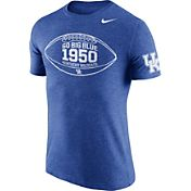Nike Men's Kentucky Wildcats Blue Moments Tri-Blend Football T-Shirt