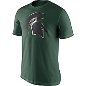 Nike Men's Michigan State Spartans Green Champ Drive Football T-Shirt