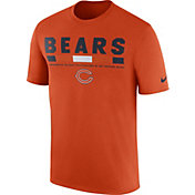 Nike Men's Chicago Bears Sideline 2017 Legend Staff Performance Orange T-Shirt