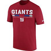 Nike Men's New York Giants Sideline 2017 Legend Staff Performance Red T-Shirt