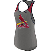 Nike Women's St. Louis Cardinals Dri-FIT Grey Wordmark Tank Top