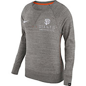 Nike Women's San Francisco Giants Gym Vintage Grey Pullover Crew