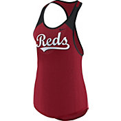 Nike Women's Cincinnati Reds Dri-FIT Red Wordmark Tank Top