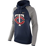 Nike Women's Minnesota Twins Grey Therma Pullover Hoodie