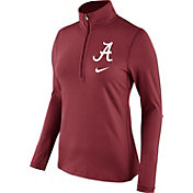 Nike Women's Alabama Crimson Tide Crimson Tailgate Dry Quarter-Zip Shirt