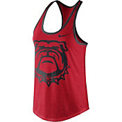 Nike Women's Georgia Bulldogs Red Dri-Blend Tank Top