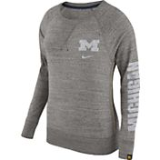 Nike Women's Michigan Wolverines Grey Vintage Crew Sweatshirt