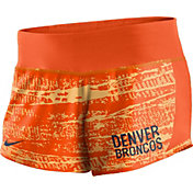 Nike Women's Denver Broncos Crew Orange Performance Shorts
