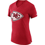 Nike Women's Kansas City Chiefs Fan V Red T-Shirt