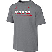 Nike Youth Alabama Crimson Tide Grey Legend Staff Sideline T-Shirt