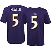 Nike Youth Baltimore Ravens Joe Flacco #5 Purple T-Shirt
