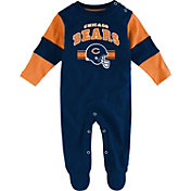 NFL Team Apparel Infant's Chicago Bears Newborn Navy Coverall
