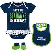 NFL Team Apparel Infant Seattle Seahawks Bib & Booty Set