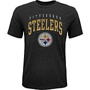 NFL Team Apparel Youth Pittsburgh Steelers Wheels Tri-Blend T-Shirt