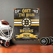 Party Animal Boston Bruins Embossed Metal Sign