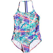 Roxy Girls' Retro Summer Sporty Swimsuit